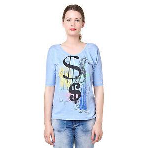 Pepe-jeans-bleu-femme-keek-top-graphique-choisissez-votre-taille-neuf-avec-etiquette