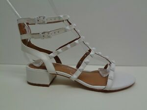 d596e396fa1a Arturo Chiang Size 6.5 M JAIN White Leather Studded Sandals New ...