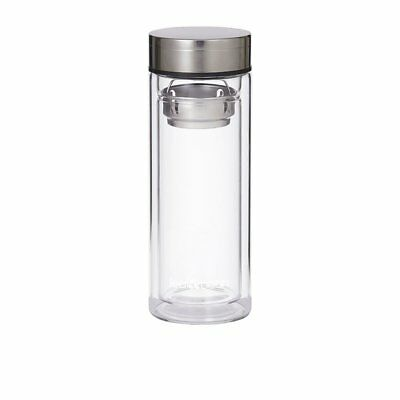 NEW Leaf & Bean Glass Tea Infuser Flask