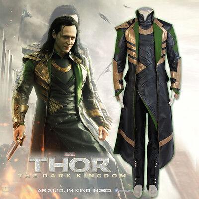 The Avengers Thor Ragnarok Loki Full Suit Cosplay Costume Custom Made Halloween