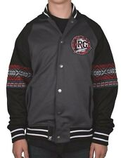 LRG Lifted Research Group Black Gray Red Kente Track Jacket 3XL NWT