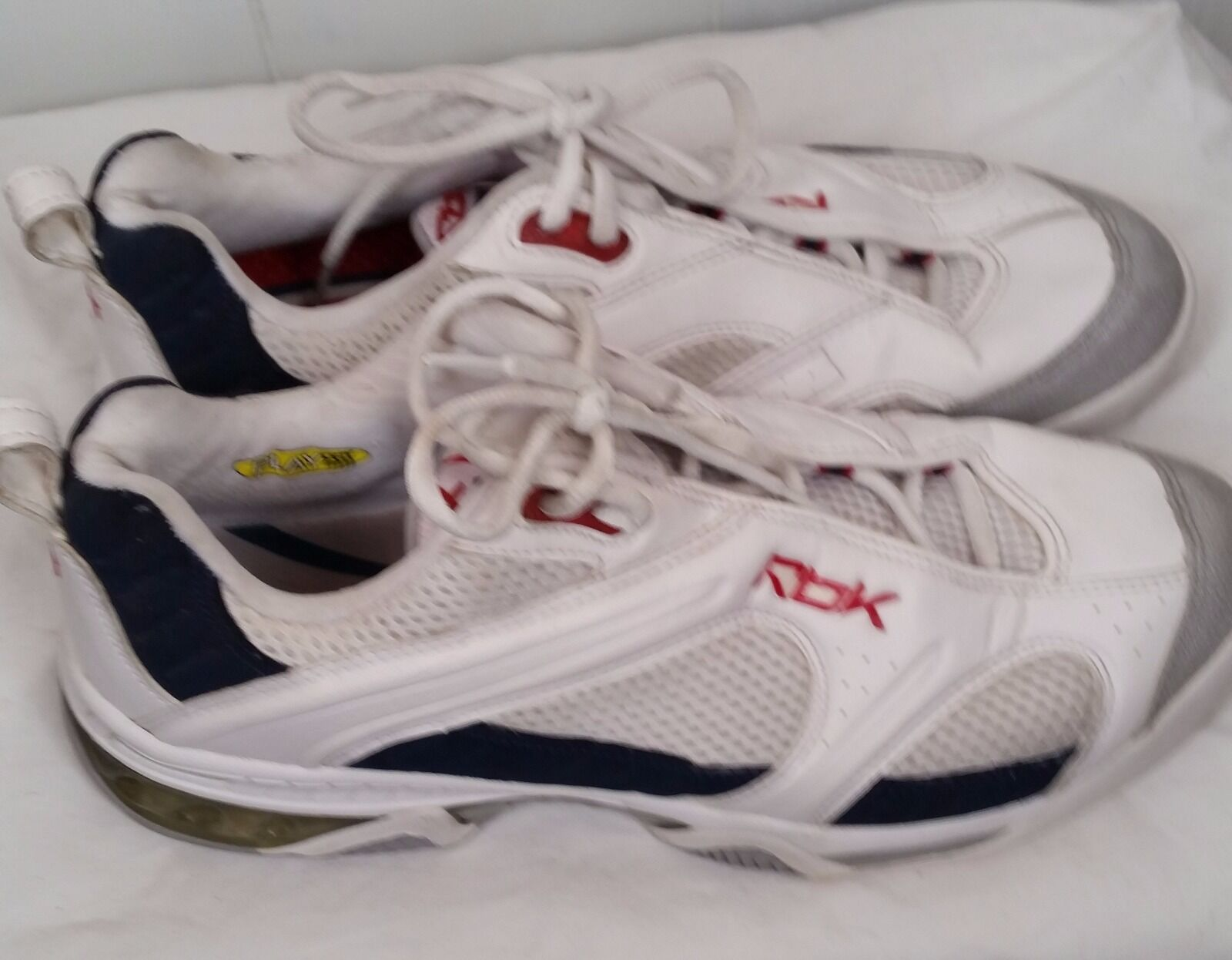 Reebok white bluee red premier Tennis shoes dmx shear  sneakers mens size 11.5