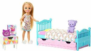 BARBIE-CHELSEA-DOLL-AND-BEDTIME-PLAYSET-FXG-83-KIDS-TOY