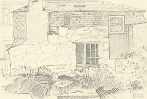 Arthur Mitson - Set of Five Mid 20th Century Pen and Ink Drawings, Cottages