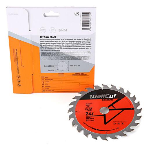 M18CS55 Pack de 10 WellCut TCT Lame Scie 165 mm x 24 t x 20 mm alésage pour HD18CS