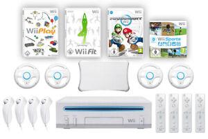 Nintendo-Wii-Family-Paket-inkl-Konsole-Spiele-wie-Mario-Kart-Wii-Fit-amp-mehr