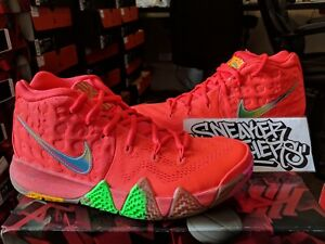 af4bfd7b23d Nike Kyrie 4 IV Lucky Charms Bright Crimson Multi-Color Cereal Pack ...