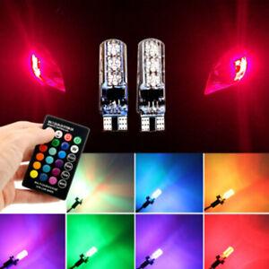 2PCS-Remote-Control-T10-W5W-5050-6SMD-RGB-LED-Multi-Color-Light-Car-Wedge-Bulbs