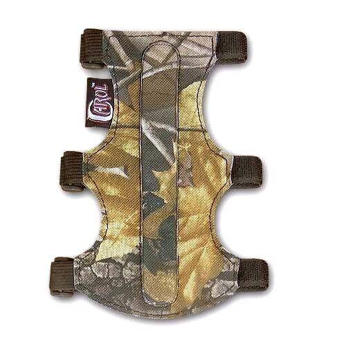 19cm LONG X 9cm WIDE . CAROL TARGET ARCHERY ARM GUARD FABRIC FAG219 CAMO