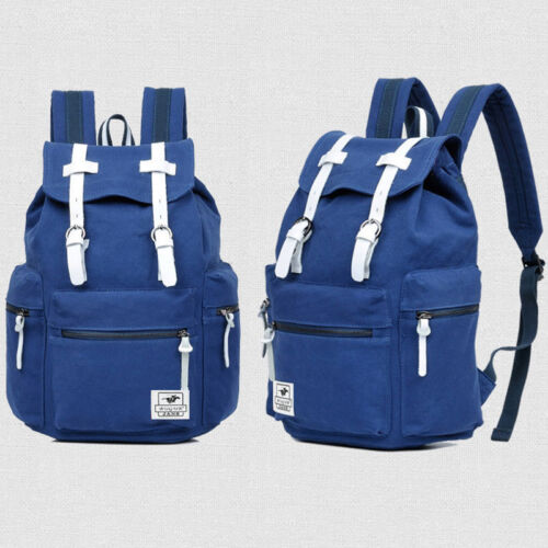 Men/'s Women Canvas Backpack Rucksack Laptop School Satchel Travel Hiking Bag