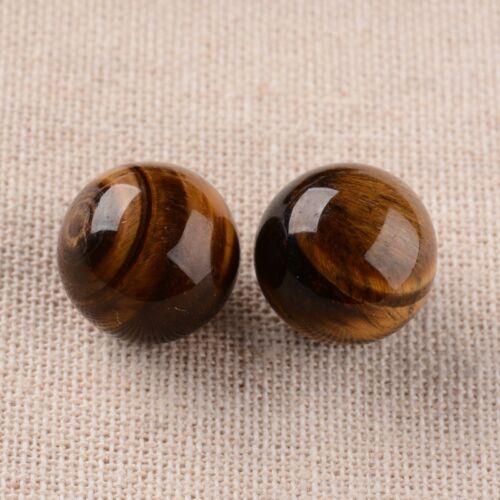 5 Pcs Natural Gemstone No Hole Undrilled Round Ball Beads Jewelry Making 16mm