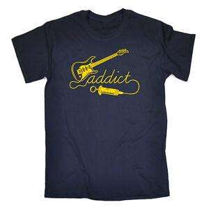 Music-Band-T-Shirt-Funny-Novelty-Mens-tee-TShirt-Guitar-Addict