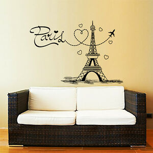 Image Is Loading Eiffel Tower Wall Decals Paris Silhouette France Vinyl
