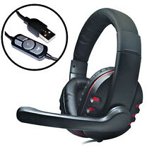 Dynamode MX-878 USB Stereo PC Gaming Headset Headphones With Microphone Laptop