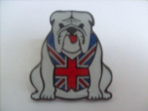 20 WHITE BRITISH BULLDOG ENAMEL PIN BADGES