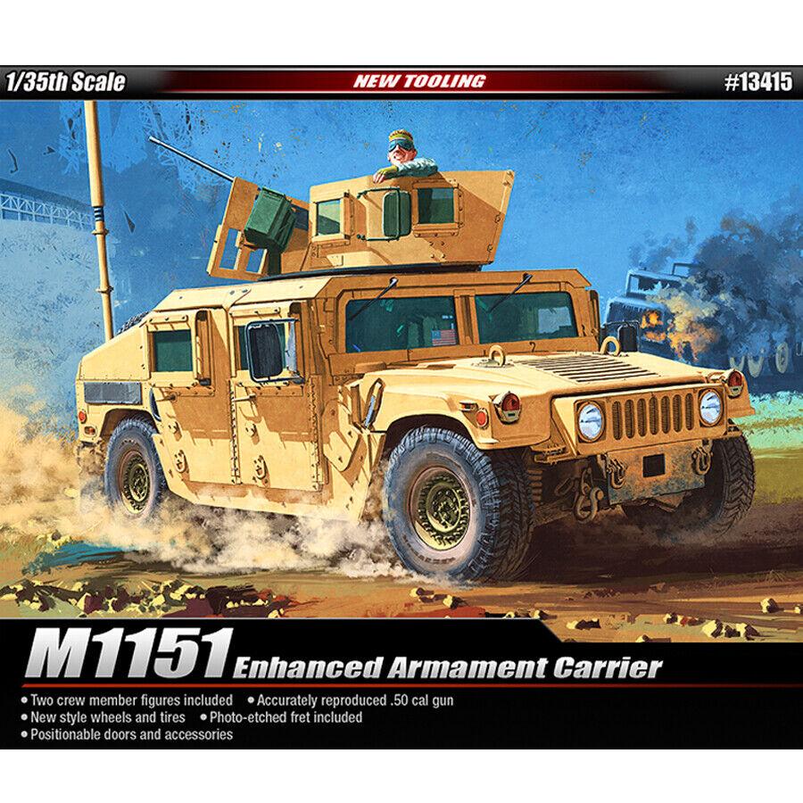 Academy 1 35 M1151 Enhanced Armament Carrier  Plastic Model Kit Armor