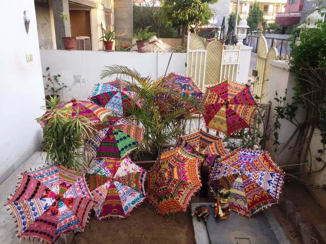 Wholesale Indian Handmade Rajasthani Parasols Wedding Bridal Decor Umbrellas