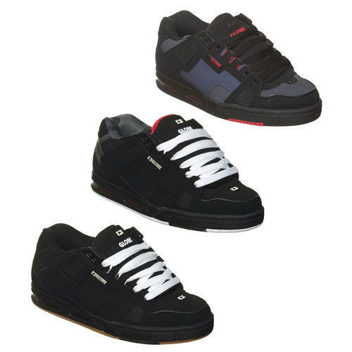 Globe Sabre Mens Black Leather Skate Trainers Shoes Size 7-13