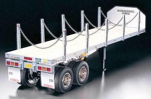 56306 Tamiya Camión 1 14th Escala Kit De Superficie Plana Semi Remolque (FREE BALLRACE conjunto)