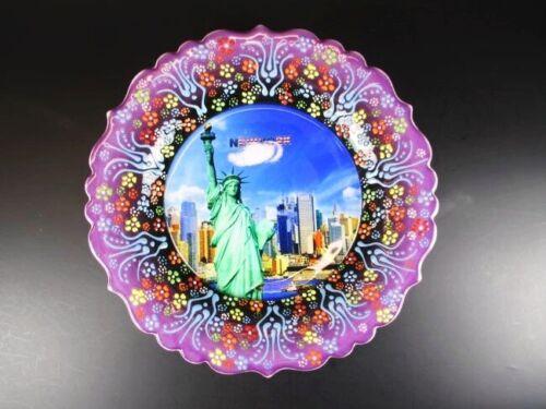 New York Freiheitsstatue USA Souvenir Teller Plate 25 cm,Keramikteller,(5)