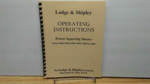 … Power Shears – Operator's Manual To Make One Feel At Ease And Energetic 0300 Lodge & Shipley Series 0200 0400