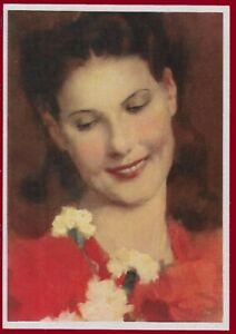 German WW 2 Third Reich Artist Postcard Portrait of a Young Woman 1940
