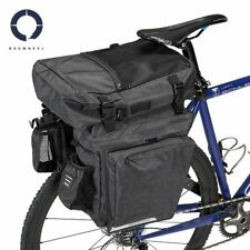 210ab7655e7 Roswheel Essential 40l Bike Triple 3 in 1 Pannier Bag Set Grey Black Cycle