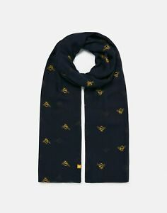Joules-Womens-213054-Printed-Scarf-Navy-Bees-One-Size