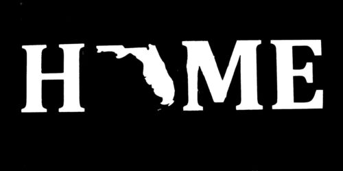 Home State Of Florida Decal Car Window Vehicle Sticker 75207