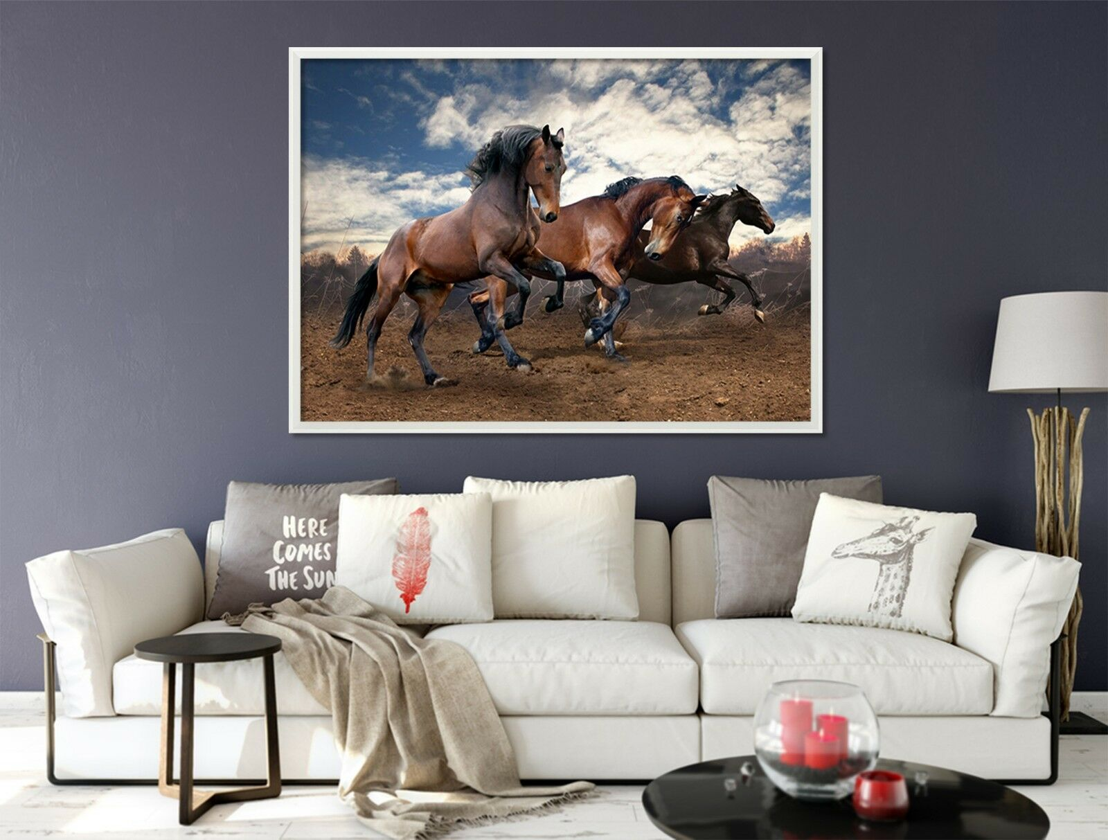 3D Sky Horse 664 Fake Framed Poster Home Decor Print Painting Unique Art Summer