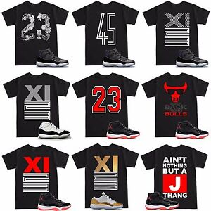 ed7a5d46e8cb Space Jam 11 Retro 11 XI 23 Varsity Bred T Shirt to match with Air ...