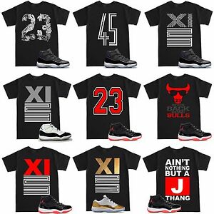 e07da8ed96f342 Space Jam 11 Retro 11 XI 23 Varsity Bred T Shirt to match with Air ...