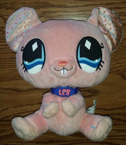 Littlest Pet Shop LPS VIP Pink Mouse Stuffed Animal Plush Toy