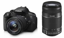 CANON EOS 700D DSLR CAMERA WITH 18-55MM IS II+55-250MM IS II-DUAL LENS KIT !!.