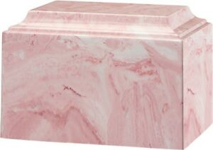 Details about Large/Adult 225 Cubic Inch Tuscany Pink Cultured Marble  Cremation Urn for Ashes