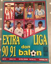 Don BALON EXTRA LIGA FÚTBOL 90-91 Revista De Futbol. MBC. revista