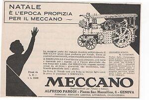 Pubblicita-epoca-vintage-1932-MECCANO-GIOCO-GENOVA-old-advert-werbung-publicite