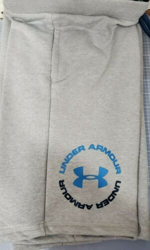 Boys Kids Youth Under Armour Shorts NEW Gray circle logo Size Large
