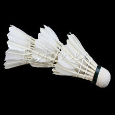 3Pcs White Goose Birdies Feather Shuttlecocks Badminton Ball Game Sport Training