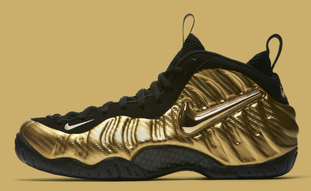 best loved b190b eb080 2017 Nike Air Foamposite Pro Gold Black Size 13. 624041-701. penny