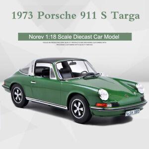 NOREV-Collectors-1-18-Scale-Porsche-911-S-Targa-1973-Green-Car-Model-Diecast-New