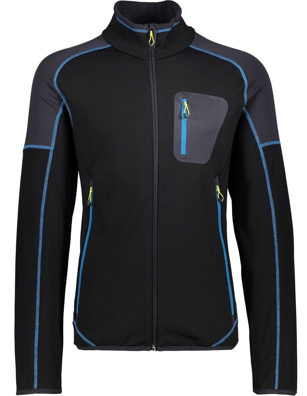 CMP Herren Stretch-Fleece Jacke 3G62847N schwarz   Midlayer   Funktionsshirt