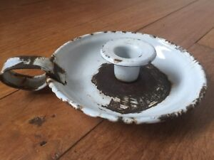 Details About Vintage Collectable Enamel Candle Holder