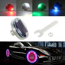 1× Car Auto Wheel Hub Tire Solar Color LED Decorative Light Solar Energy Flash