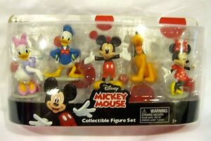 MICKEY MOUSE CLUBHOUSE FIGURINE PLAYSET-MICKEY,MINNIE,DONALD,PLUTO ...