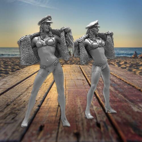 Resin Figuren im Maßstab 1:32 Bausätze Beach Girl Bikini KOO-42
