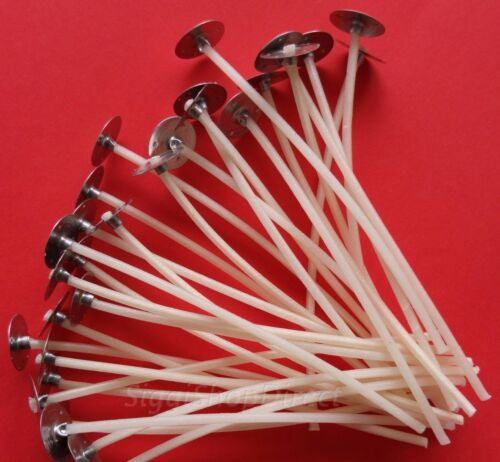 60 Pcs Pre Waxed Wicks with Tab 100 mm// 10cm long for Candle Making High Quality