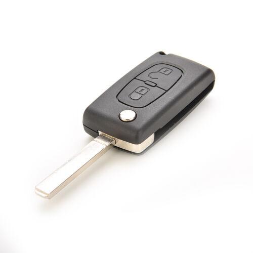 Flip Remote Key Case Shell for C2 C3 C4 C5 C6 C8 2 Button Replacement SP