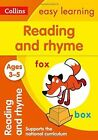 Reading and Rhyme Ages 3-5: New Edition (Collins Easy Learning Preschool) by Collins Easy Learning (Paperback, 2015)