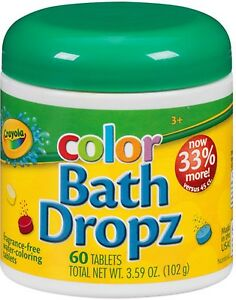 Crayola Color Bath Dropz 60 ea (Pack of 7)